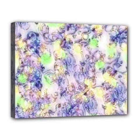 Softly Floral B Canvas 14  x 11