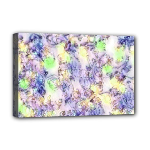 Softly Floral B Deluxe Canvas 18  x 12