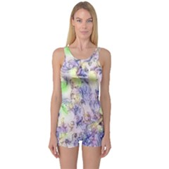 Softly Floral B One Piece Boyleg Swimsuit