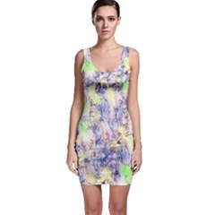 Softly Floral B Sleeveless Bodycon Dress