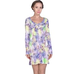 Softly Floral B Long Sleeve Nightdress
