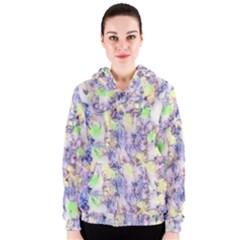 Softly Floral B Women s Zipper Hoodie