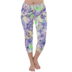 Softly Floral B Capri Winter Leggings