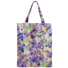 Softly Floral B Zipper Classic Tote Bag