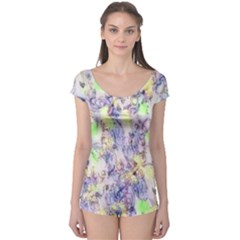 Softly Floral B Boyleg Leotard