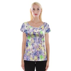 Softly Floral B Women s Cap Sleeve Top