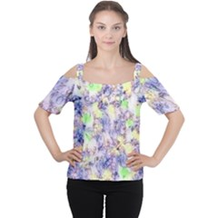 Softly Floral B Women s Cutout Shoulder Tee