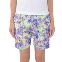Softly Floral B Women s Basketball Shorts