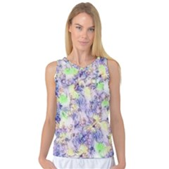 Softly Floral B Women s Basketball Tank Top