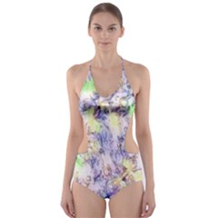 Softly Floral B Cut-Out One Piece Swimsuit