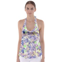 Softly Floral B Babydoll Tankini Top