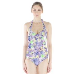 Softly Floral B Halter Swimsuit