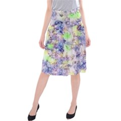 Softly Floral B Midi Beach Skirt