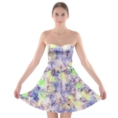 Softly Floral B Strapless Bra Top Dress