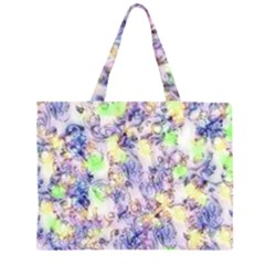 Softly Floral B Zipper Large Tote Bag