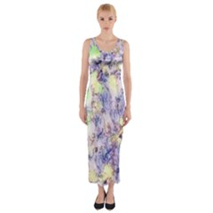 Softly Floral B Fitted Maxi Dress