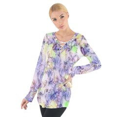 Softly Floral B Women s Tie Up Tee