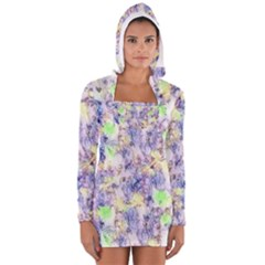 Softly Floral B Women s Long Sleeve Hooded T-shirt