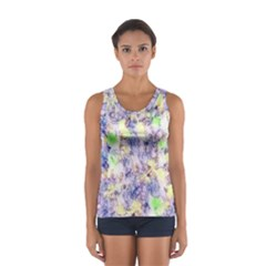 Softly Floral B Women s Sport Tank Top