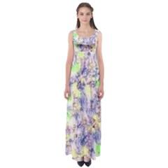 Softly Floral B Empire Waist Maxi Dress