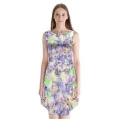 Softly Floral B Sleeveless Chiffon Dress