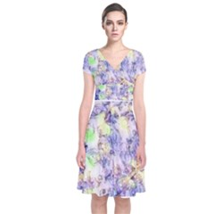Softly Floral B Short Sleeve Front Wrap Dress