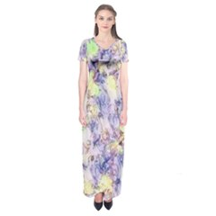 Softly Floral B Short Sleeve Maxi Dress