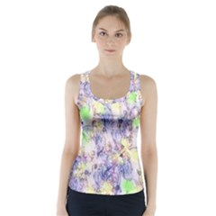 Softly Floral B Racer Back Sports Top