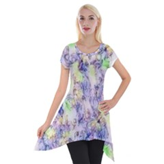 Softly Floral B Short Sleeve Side Drop Tunic