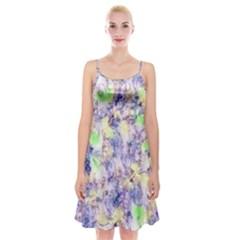 Softly Floral B Spaghetti Strap Velvet Dress