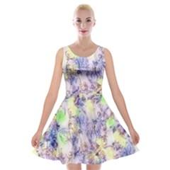 Softly Floral B Velvet Skater Dress