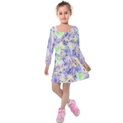 Softly Floral B Kids  Long Sleeve Velvet Dress