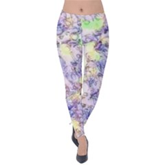 Softly Floral B Velvet Leggings