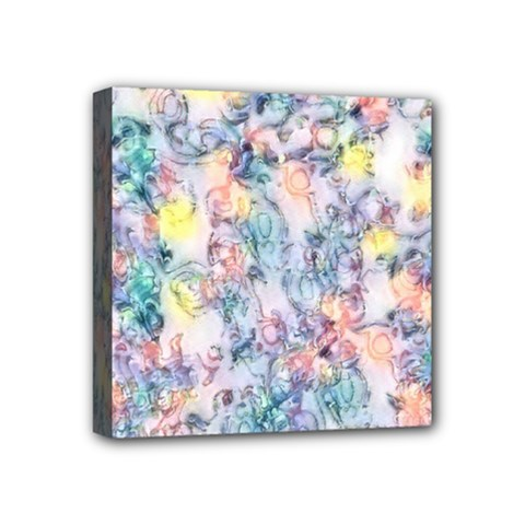 Softly Floral C Mini Canvas 4  x 4