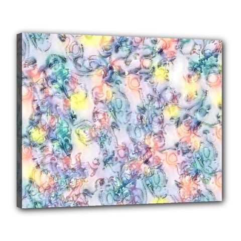 Softly Floral C Canvas 20  x 16