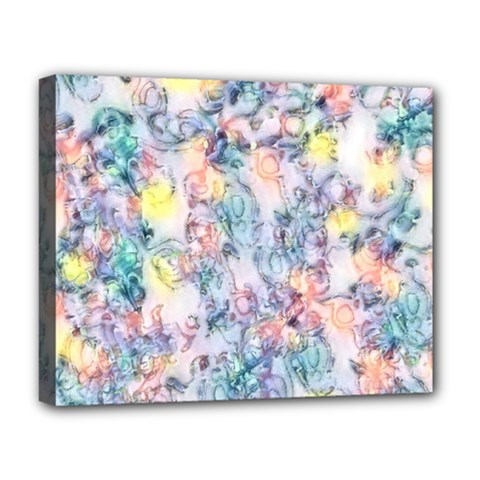 Softly Floral C Deluxe Canvas 20  x 16
