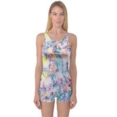 Softly Floral C One Piece Boyleg Swimsuit