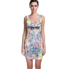 Softly Floral C Sleeveless Bodycon Dress