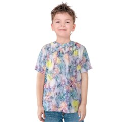 Softly Floral C Kids  Cotton Tee