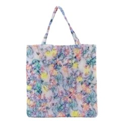 Softly Floral C Grocery Tote Bag