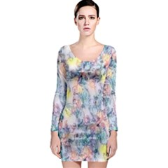 Softly Floral C Long Sleeve Bodycon Dress