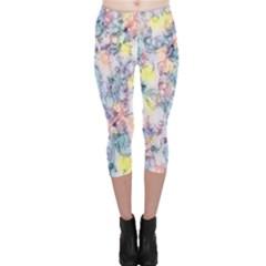 Softly Floral C Capri Leggings