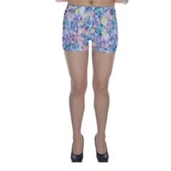 Softly Floral C Skinny Shorts