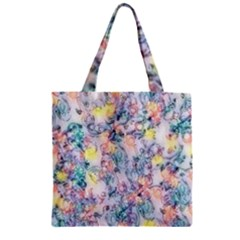 Softly Floral C Zipper Grocery Tote Bag