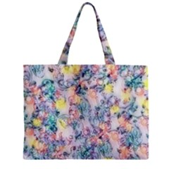 Softly Floral C Zipper Mini Tote Bag