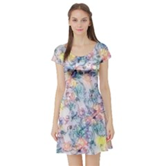 Softly Floral C Short Sleeve Skater Dress