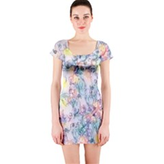 Softly Floral C Short Sleeve Bodycon Dress