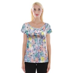 Softly Floral C Women s Cap Sleeve Top