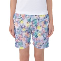 Softly Floral C Women s Basketball Shorts