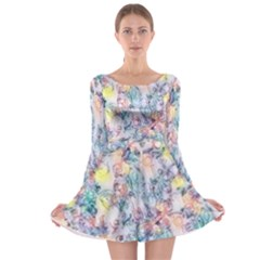 Softly Floral C Long Sleeve Skater Dress
